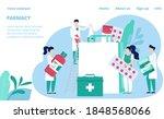 pharmacy store website template ...   Shutterstock .eps vector #1848568066