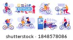bicycle shop set of isolated...   Shutterstock .eps vector #1848578086