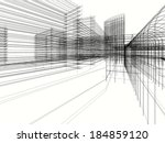 abstract architecture design... | Shutterstock . vector #184859120