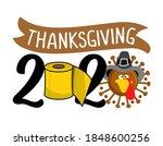 thanksgiving 2020 quarantine... | Shutterstock .eps vector #1848600256