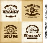 vintage alcohol labels set | Shutterstock . vector #184860338