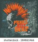 retro design punk not dead for... | Shutterstock .eps vector #184861466
