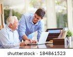 teenage grandson helping...   Shutterstock . vector #184861523