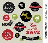 sale labels | Shutterstock .eps vector #184863410