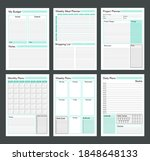 vector planner pages templates. ... | Shutterstock .eps vector #1848648133