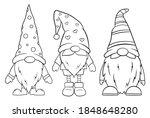 set of little garden gnomes.... | Shutterstock .eps vector #1848648280