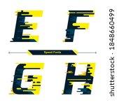 vector graphic alphabet in a... | Shutterstock .eps vector #1848660499