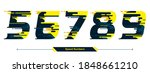 vector graphic numbers in a set ... | Shutterstock .eps vector #1848661210