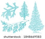 Branch Christmas Tree Set With...