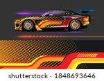 vehicle vinyl wrap design with...   Shutterstock .eps vector #1848693646