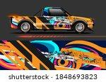 vehicle vinyl wrap design with...   Shutterstock .eps vector #1848693823