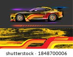 car livery design with sporty...   Shutterstock .eps vector #1848700006