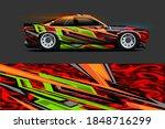 vehicle wrap and vinyl sticker...   Shutterstock .eps vector #1848716299