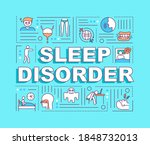 sleep disorder word concepts...