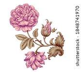 rose flower vintage pink... | Shutterstock .eps vector #1848741970
