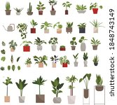 indoor plants clipart large... | Shutterstock .eps vector #1848743149