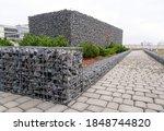 Gabion Stone Fence. Elements Of ...