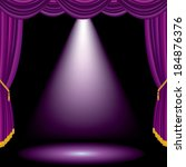 Purple Spot On Violet Stage