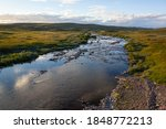 Rivulet Flows Through Tundra On ...