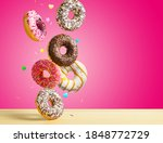 Various Sweet Doughnuts With...