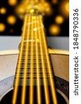 Unusual Guitar With Golden...