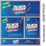 black friday sale banner for... | Shutterstock .eps vector #1848790339