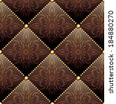 seamless texture brown leather... | Shutterstock . vector #184880270