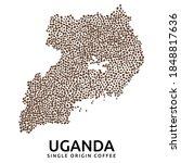 shape of uganda map made of... | Shutterstock .eps vector #1848817636