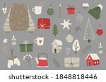 christmas stickers set. hand... | Shutterstock .eps vector #1848818446