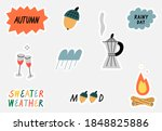 set of hand drawn stickers... | Shutterstock .eps vector #1848825886