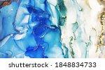 Ink Wash Pastel. Blue  White...