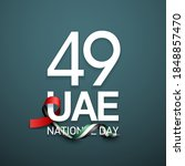 49 uae national day banner with ... | Shutterstock .eps vector #1848857470