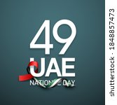 49 uae national day banner with ...   Shutterstock . vector #1848857473