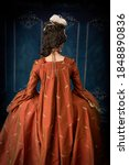 18th Century Woman Wearing A...