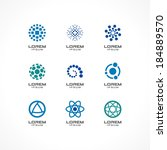 set of icon design elements.... | Shutterstock .eps vector #184889570
