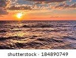 atlantic sunset. sunset... | Shutterstock . vector #184890749