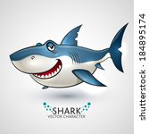 vector shark. | Shutterstock .eps vector #184895174