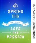 typographic design   it's... | Shutterstock .eps vector #184897370