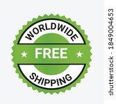 worldwide shipping vector logo  ... | Shutterstock .eps vector #1849004653