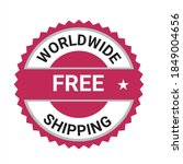 worldwide shipping vector logo  ... | Shutterstock .eps vector #1849004656