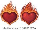 burning heart. valentine. hand...   Shutterstock .eps vector #1849010266