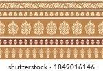 vector paisley border design... | Shutterstock .eps vector #1849016146