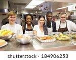 portrait of kitchen staff in... | Shutterstock . vector #184906253
