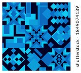 square pattern of geometric... | Shutterstock .eps vector #1849074139