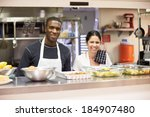 portrait of kitchen staff in... | Shutterstock . vector #184907480