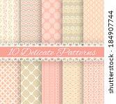 10 delicate loving wedding... | Shutterstock .eps vector #184907744