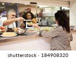 kitchen serving food in... | Shutterstock . vector #184908320