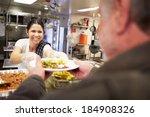 kitchen serving food in... | Shutterstock . vector #184908326