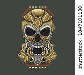 mask illustration skull... | Shutterstock .eps vector #1849101130