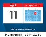 11 april vector day calendar ...